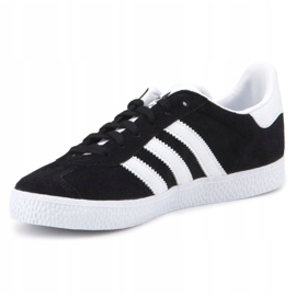Sapatos Adidas Gazelle C Jr BB2507 preto azul 2