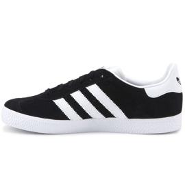 Sapatos Adidas Gazelle C Jr BB2507 preto azul 4