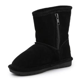 Sapatos BearPaw Emma para criança com zíper Jr 608TZ pretos nunca molhados 2