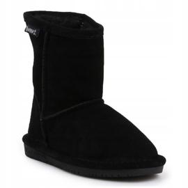 Sapatos BearPaw Emma para criança com zíper Jr 608TZ pretos nunca molhados 3