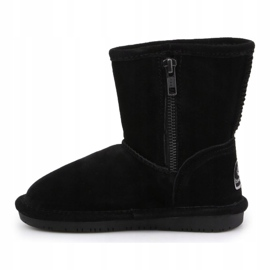 Sapatos BearPaw Emma para criança com zíper Jr 608TZ pretos nunca molhados 4