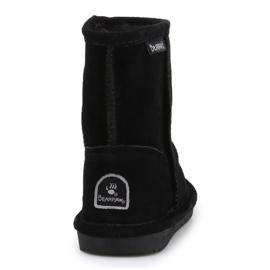 Sapatos BearPaw Emma para criança com zíper Jr 608TZ pretos nunca molhados 5