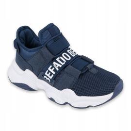 Sapatos juvenis Befado 516Q065 azul marinho 2