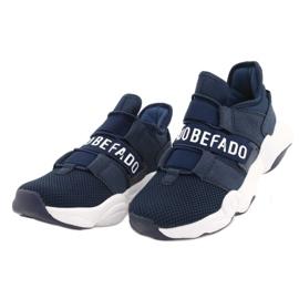 Sapatos juvenis Befado 516Q065 azul marinho 3