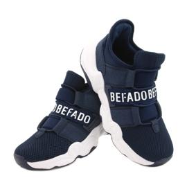 Sapatos juvenis Befado 516Q065 azul marinho 5