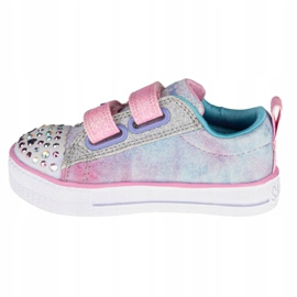 Sapato Skechers Shuffle Lite Sweet Supply Jr 20320N-LPMT preto multicolorido 1