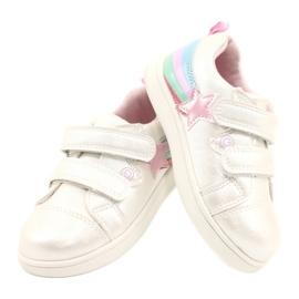 Evento Calçado desportivo com estrela de velcro branco rosa prata multicolorido 3