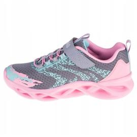 Sapatos Skechers Twisty Brights W 302301L-GYPK rosa cinza 1