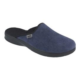Sapatos masculinos befado pu 548M018 preto marinha 1