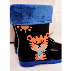 Botas de chuva pretas quentes para crianças com um tigre preto 1