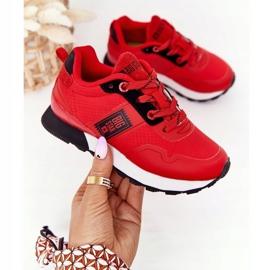 Sapatos esportivos infantis de espuma de memória Big Star HH374173 vermelho 6