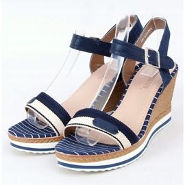 Sandálias da Marinha com cunhas A89832 Azul 1