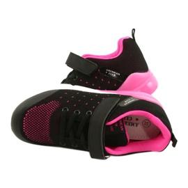 American Club Calçado desportivo feminino com velcro RL11 preto / rosa 4