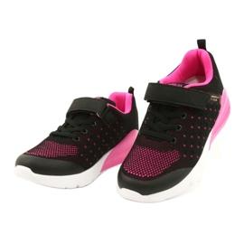 American Club Calçado desportivo feminino com velcro RL11 preto / rosa 1