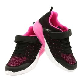 American Club Calçado desportivo feminino com velcro RL11 preto / rosa 3