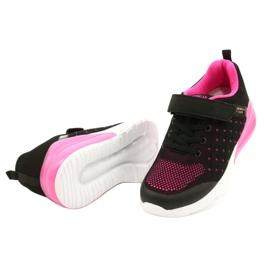 American Club Calçado desportivo feminino com velcro RL11 preto / rosa 2