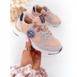 Sapatos esportivos infantis com espuma viscoelástica Big Star HH374180 laranja azul marinho cinza 4