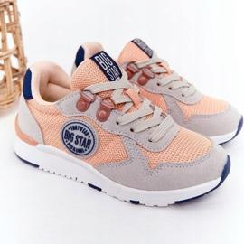 Sapatos esportivos infantis com espuma viscoelástica Big Star HH374180 laranja azul marinho cinza 2