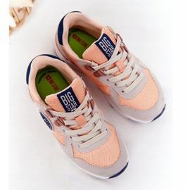 Sapatos esportivos infantis com espuma viscoelástica Big Star HH374180 laranja azul marinho cinza 1