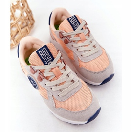 Sapatos esportivos infantis com espuma viscoelástica Big Star HH374180 laranja azul marinho cinza 5