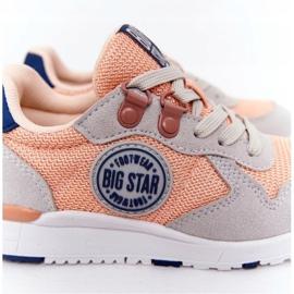 Sapatos esportivos infantis com espuma viscoelástica Big Star HH374180 laranja azul marinho cinza 6