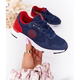 Sapatos esportivos infantis de espuma de memória Big Star HH374175 azul marinho multicolorido 4