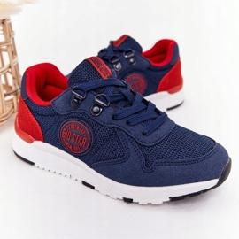 Sapatos esportivos infantis de espuma de memória Big Star HH374175 azul marinho multicolorido 3