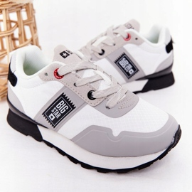 Sapatos esportivos infantis de espuma de memória Big Star HH374168 branco 4