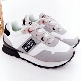 Sapatos esportivos infantis de espuma de memória Big Star HH374168 branco 2