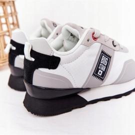 Sapatos esportivos infantis de espuma de memória Big Star HH374168 branco 6
