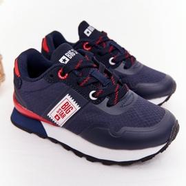 Sapatos esportivos infantis de espuma de memória Big Star HH374171 azul marinho 2