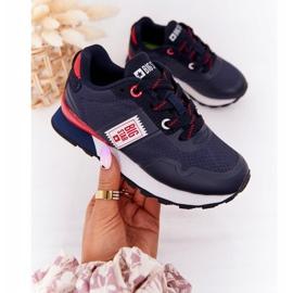 Sapatos esportivos infantis de espuma de memória Big Star HH374171 azul marinho 4
