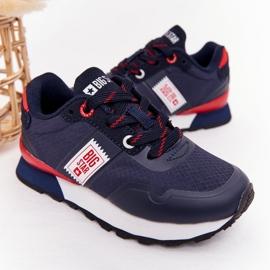 Sapatos esportivos infantis de espuma de memória Big Star HH374171 azul marinho 3