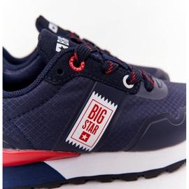 Sapatos esportivos infantis de espuma de memória Big Star HH374171 azul marinho 5