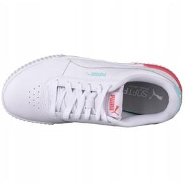 Puma Carina L Jr 370677 23 sapatos branco preto 2