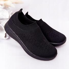 EVE Calçados infantis esportivos pretos deslizantes para viagem escolar 1