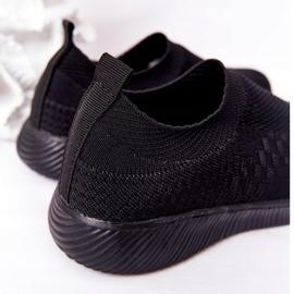 EVE Calçados infantis esportivos pretos deslizantes para viagem escolar 4