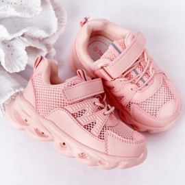 Tênis Infantil Com Solado Iluminado Led Pink So Cool! rosa 6