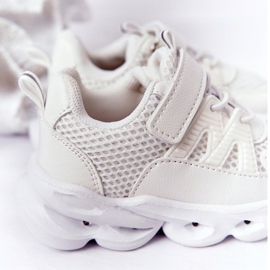 Tênis Infantil Com Solado Iluminado Led White So Cool! branco 1