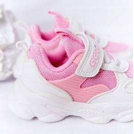 Calçados infantis esportivos tênis branco e rosa açúcar 1