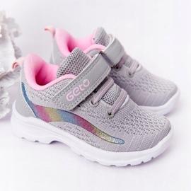 Calçados Esportivos Infantis Tênis Cinza Ready Go! rosa multicolorido 1