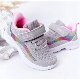 Calçados Esportivos Infantis Tênis Cinza Ready Go! rosa multicolorido 4
