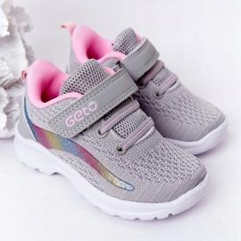Calçados Esportivos Infantis Tênis Cinza Ready Go! rosa multicolorido 2