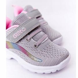 Calçados Esportivos Infantis Tênis Cinza Ready Go! rosa multicolorido 5
