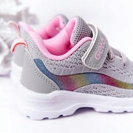 Calçados Esportivos Infantis Tênis Cinza Ready Go! rosa multicolorido 6