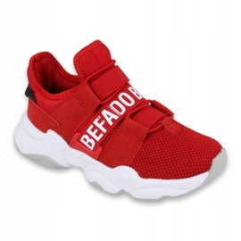Calçados infantis Befado 516X064 branco vermelho 1