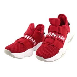 Calçados infantis Befado 516X064 branco vermelho 3