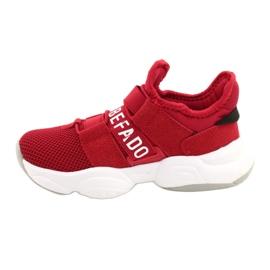 Calçados infantis Befado 516X064 branco vermelho 2