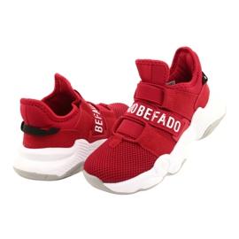 Calçados infantis Befado 516X064 branco vermelho 4