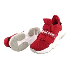 Calçados infantis Befado 516X064 branco vermelho 5